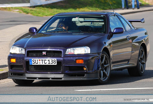 Nissan Skyline R34 GT-R V-Spec Midnight Purple Pearl II Special Color Limited Edition